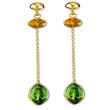 Peridot & Citrine Drop Earrings