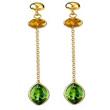 Peridot & Citrine Drop Earrings