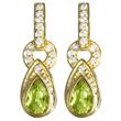 Peridot/White Topaz Dangle Earrings