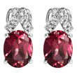Rhodolite Garnet & White Topaz Earrings