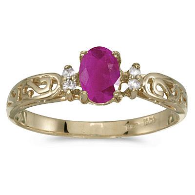 Ruby & Diamond Earring in Gold