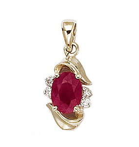 Ruby the gemstone ruby information and pictures ruby and diamond pendant aloadofball Images