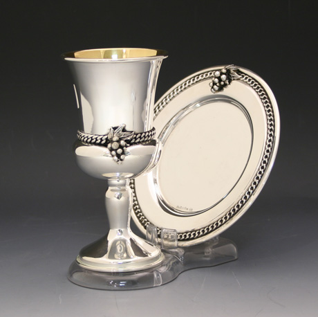 Sterling Silver Goblet & Coaster