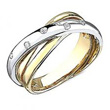 14kt Two Tone Gold Twist Diamond Ring