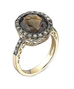 Brown Quartz Ring