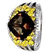 Smoky Quartz Yellow Sapphire Ring