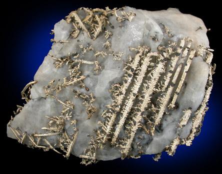 Silver on Calcite Matrix