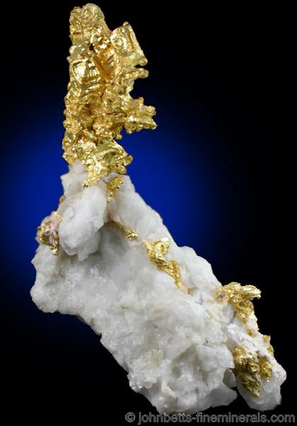 Crystallized Gold in Quartz