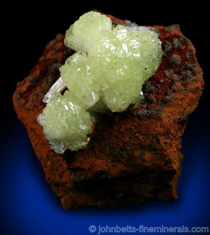 Yellow Adamite on Limonite