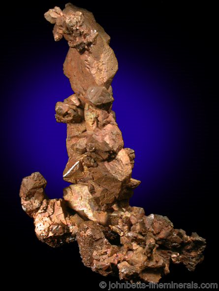 Crystallized Copper in sculpture formation