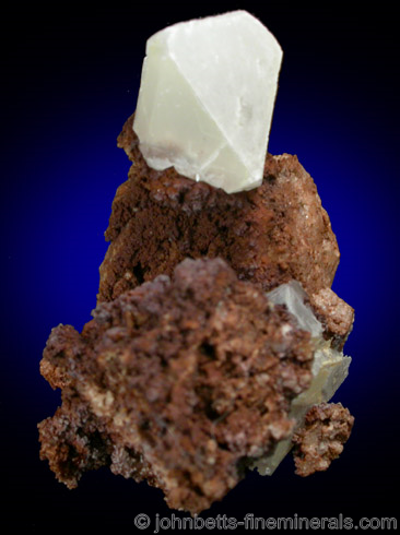 White Anglesite Crystal from Santa Eulalia District, Aquiles Serdan, Chihuahua, Mexico