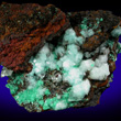 Cuproadamite with Calcite