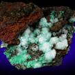 Cuproadamite with Calcite