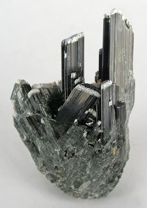 Sharp Lustrous Actinolite Crystals from near Otjiwarongo, Namibia