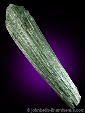 Elongated Actinolite Crystal Bundle