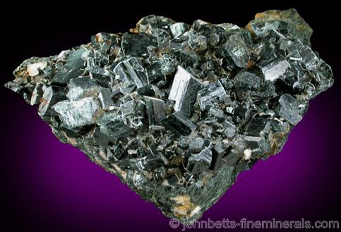 Black Actinolite Crystal Plate