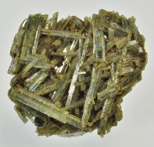Interconnected Actinolite Crystals