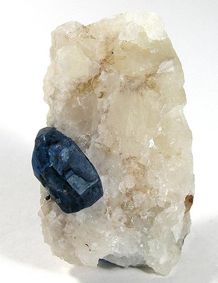 Dark Blue Afghanite on Marble