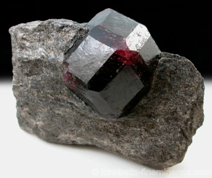 Exceptional Almandine Crystal in Matrix
