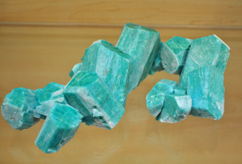 Interconnected Amazonite Cluster from Smithsonian Pocket, Smoky Hawk Claim, Crystal Peak area, Teller Co., Colorado