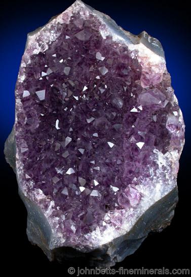 Drust Amethyst Crystal Plate from Rio Grande do Sul, Brazil