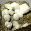 White Analcime Crystal Cluster
