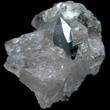 Dipyramidal Anatase In Quartz