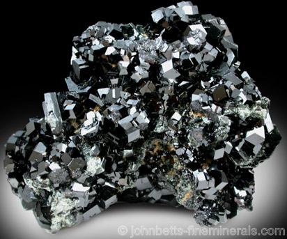 Melanite Crystal Plate