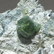 Andradite (Demantoid) on Serpentine