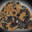 Dark Andradite Crystals on Matrix