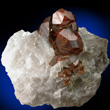 Lustrous Brown Andradite in Quartz