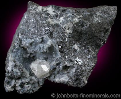 Anglesite on Galena Matrix from Tintic Mining District, Silver City-Eureka area, Utah