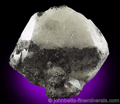 White Anglesite with Galena Inclusions