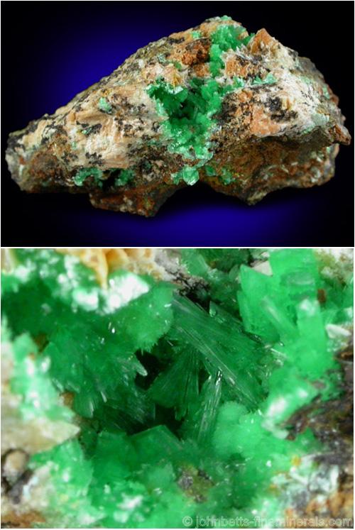 Bright Green Annabergite Pocket