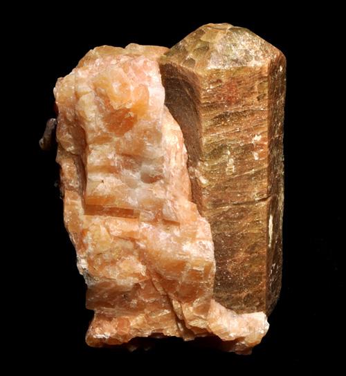 Large Apatite in Calcite