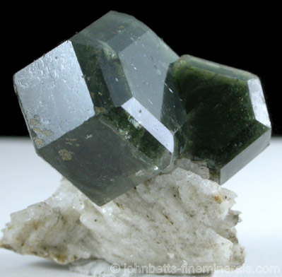Hexagonal Apatite Crystals on Matrix
