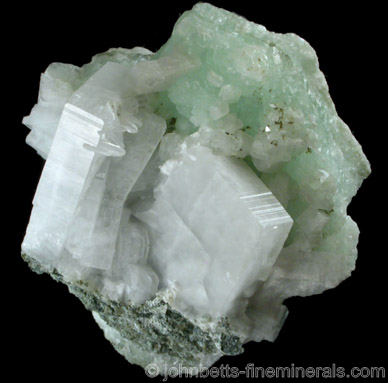Tabular Apophyllite with Prehnite
