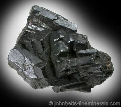 Intersecting Augite Crystals