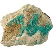 Aurichalcite Crystals on Matrix