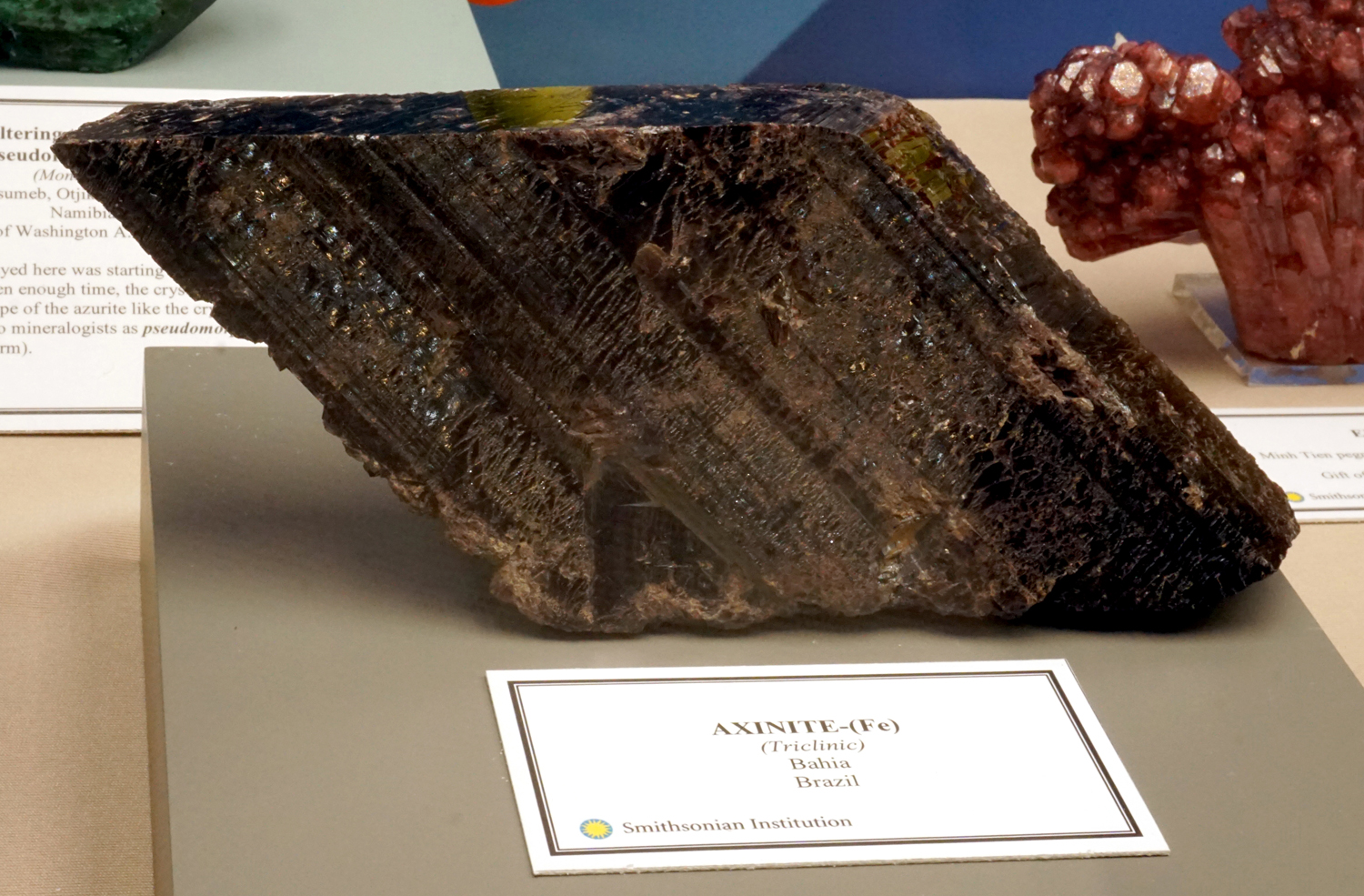 Large Bladed Axinite Crystal