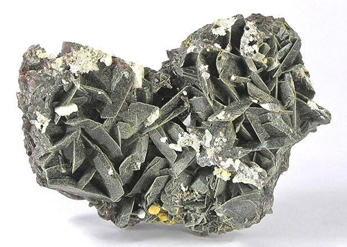 Axinite with Chlorite Coating