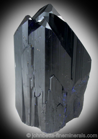 Elongated Azurite Crystal