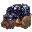 Azurite on Limonite