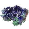 Bright Blue Azurite with Malachite
