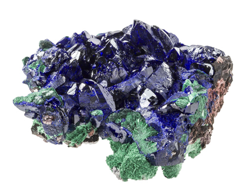 Bright Blue Azurite with Malachite