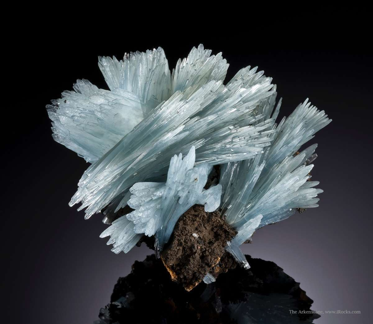 Blue Barite Crystal Swirl