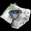 Benitoite Triangle on Natrolite