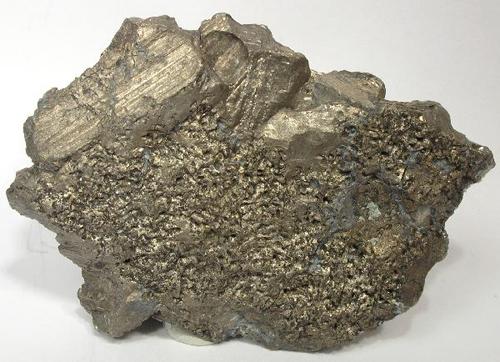 Striated Flattened Bismuth Crystals