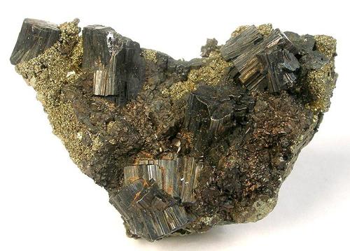 Bournonite Clusters with Pyrite