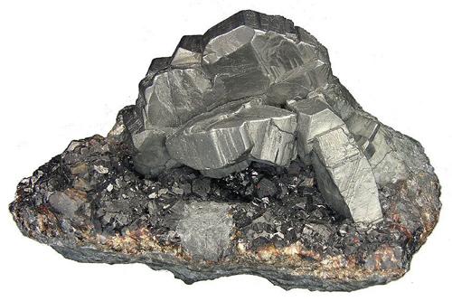 Bournonite on Sphalerite